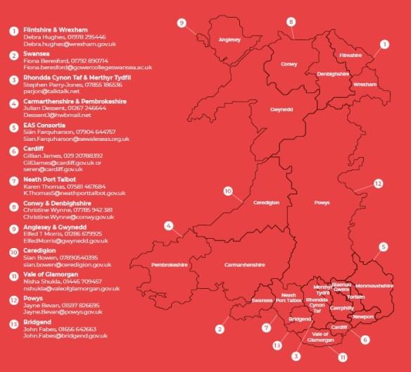hubs map english